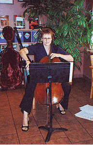 My friend Norma playing the cello