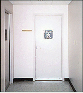 Bob Carr private dressing room door
