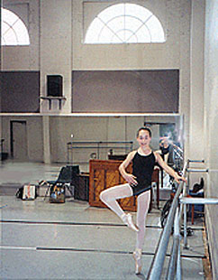 Caitlin at the barre in Studio 2